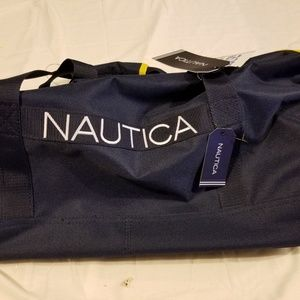 Nautica Duffelbag gym bag NWT Navy Blue New